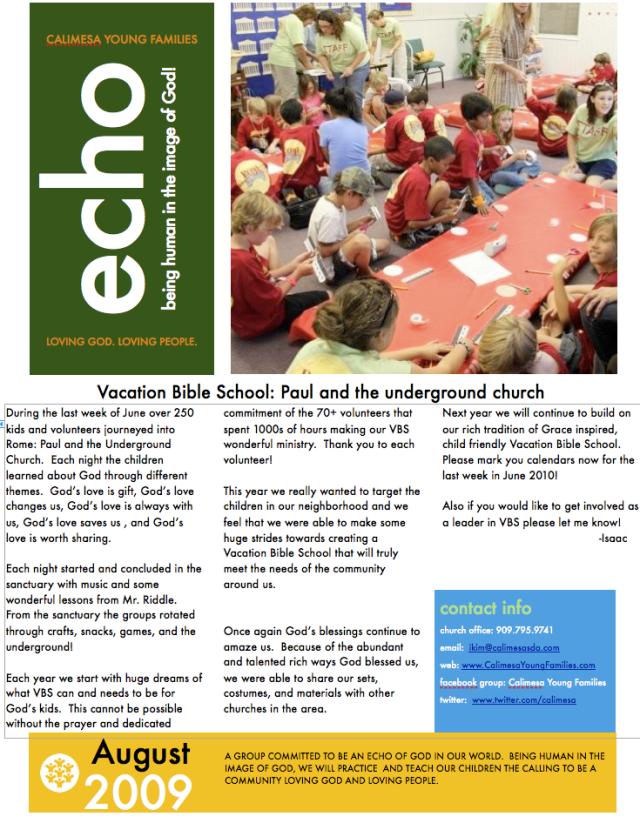 Echo August 2009 pg 1